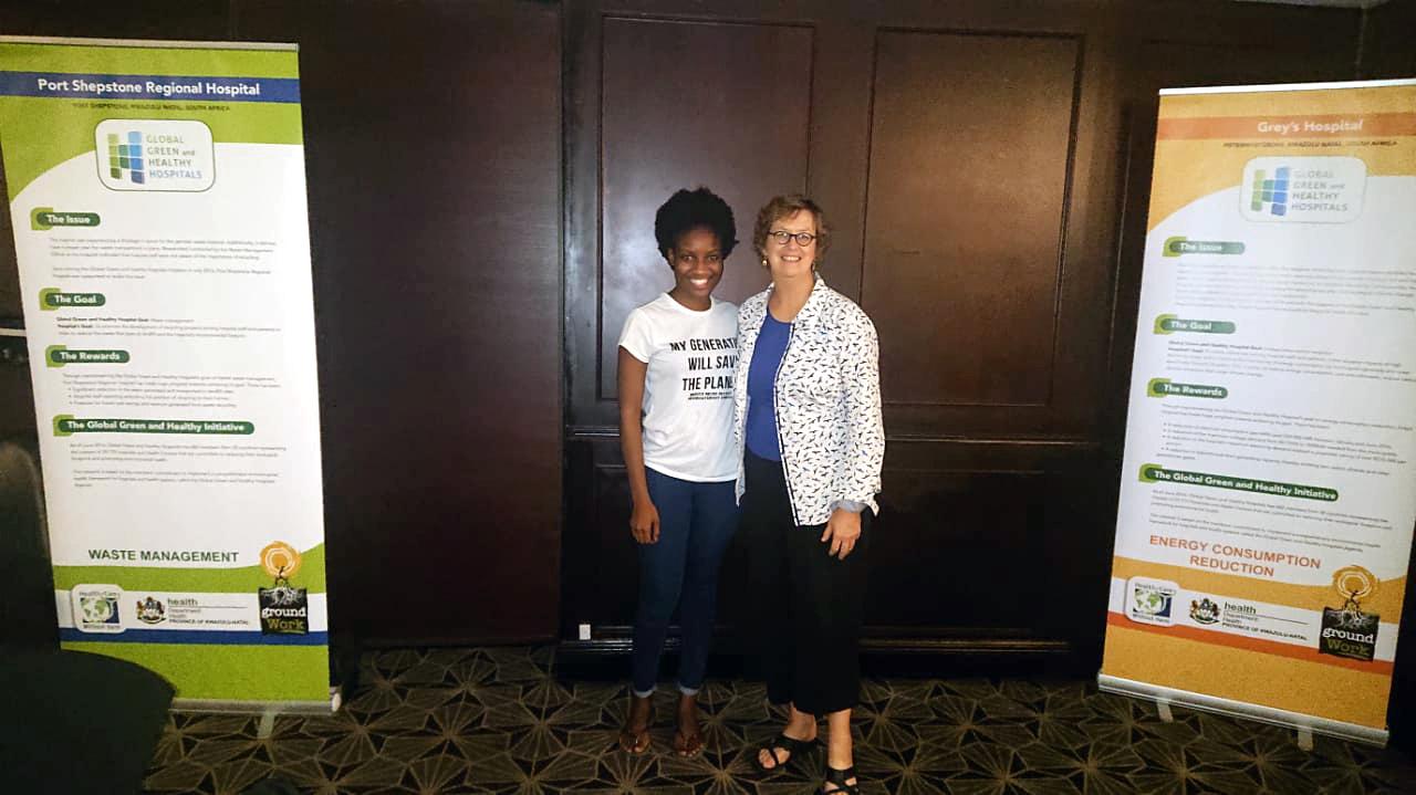 Lusanda Majola, member of groundWork, and Susan Wilburn